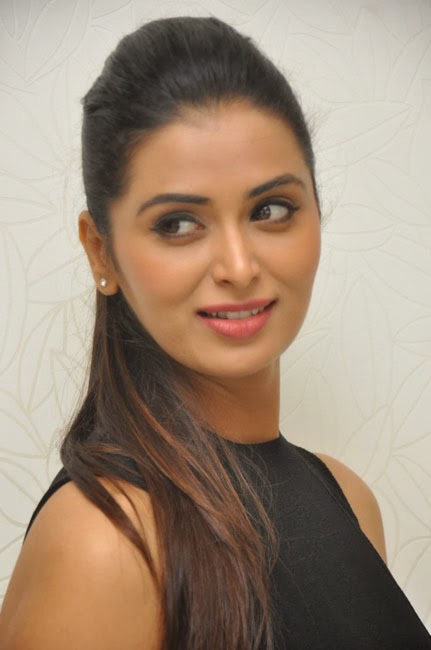 indian actress Stunning Meenakshi Dixit Hot In Black Dress Latest Stills by john