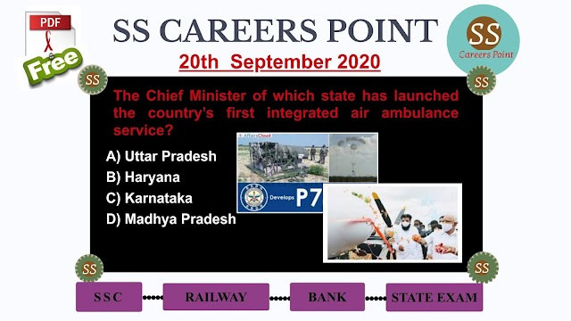 20th  September 2020 CURRENT AFFAIRS