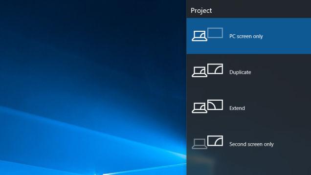 Sử dụng tính năng xuất ra máy chiếu trên laptop của windows 10