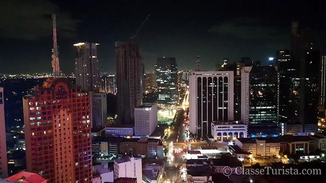 Vista de Makati à noite, Metro Manila