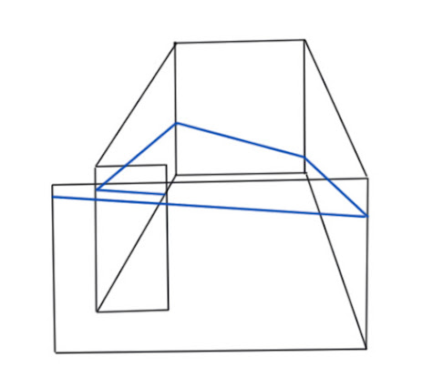 Barbara Halnan Inclined Plane, a schematic drawing