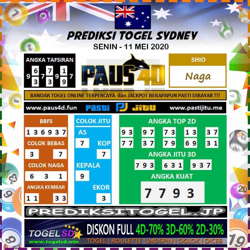 Prediksi Sydney Minggu 11 Mei 2020 - Prediksi Paus4D
