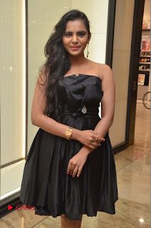 Actress Manasa Himavarsha Pictures in Black Short Dress at The Great Hydrerabad Life Style EXPO II  0030.JPG