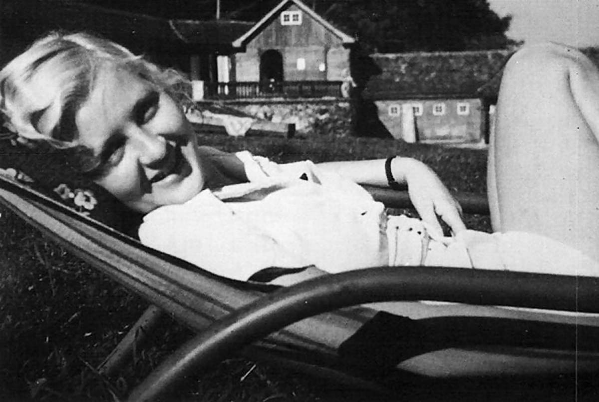 Eva Braun relaxing in the mid-1930s.