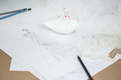 Boceto de vestido de novia