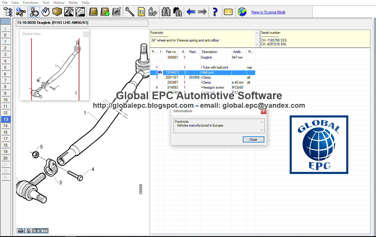 Global Epc Automotive Software Scania Multi 122017 Dvd1712 Irizar Wiring Diagram Trucks Bus Engines Commercials Parts Catalogue No Exp Date Want To Buy It For 40 Email Us Globalepcyandexcom