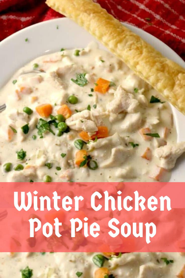 Winter Chicken Pot Pie Soup