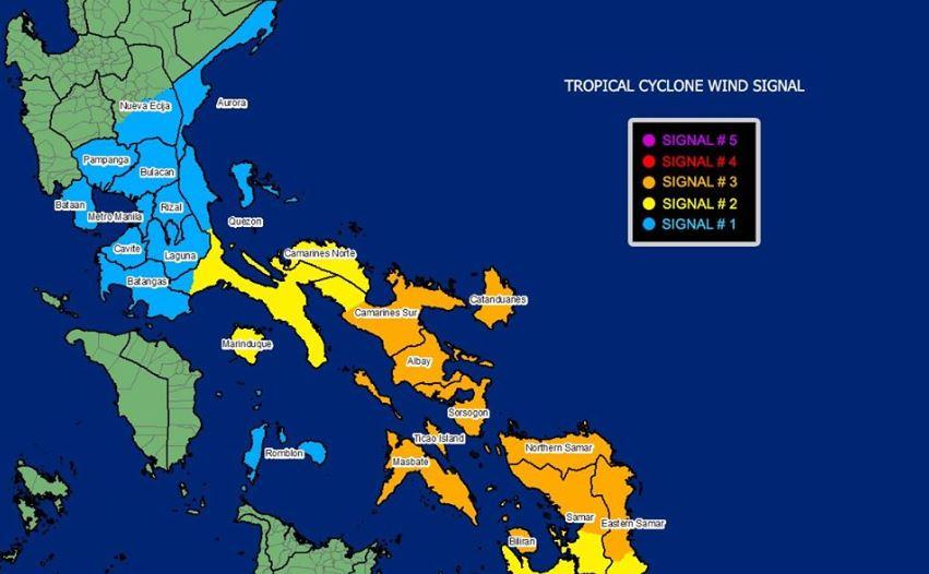 Typhoon Ambo makes landfall over Eastern Samar