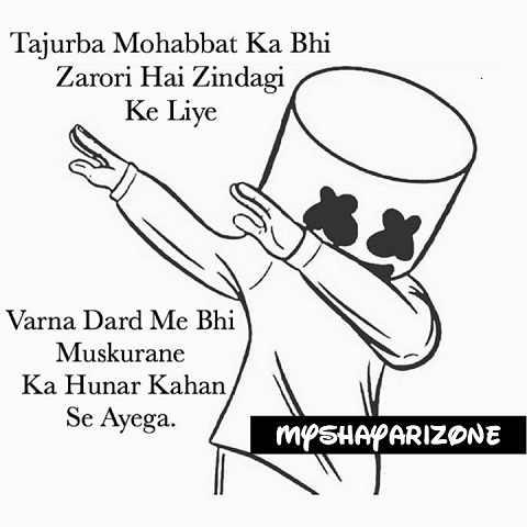 Mohabbat Ka Tajurba Dard Bhari Shayari Wallpaper Lines in Hindi