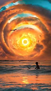 The Last Sunset Mobile HD Wallpaper