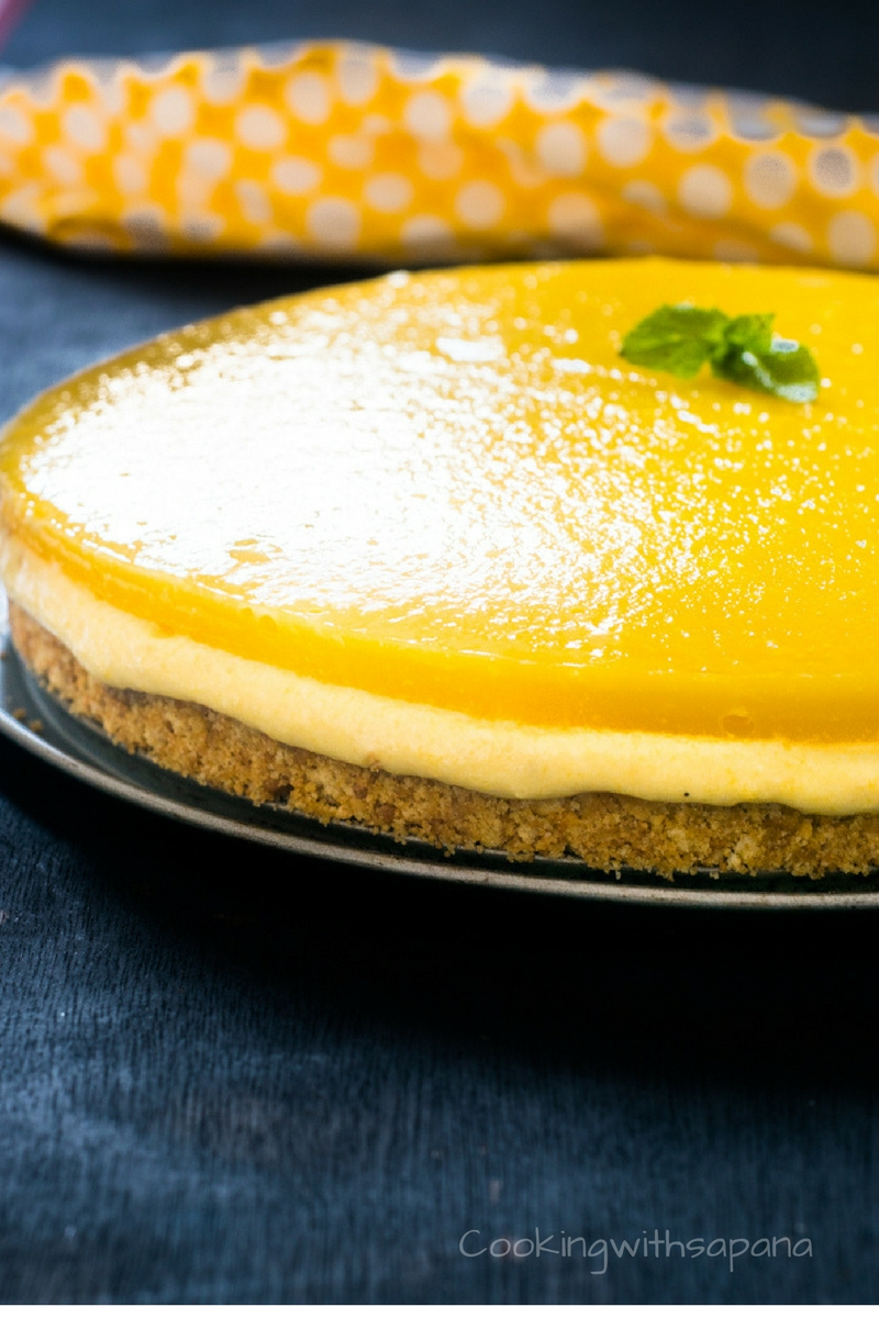 Vegan No Bake Mango Cheesecake Cookingwithsapana