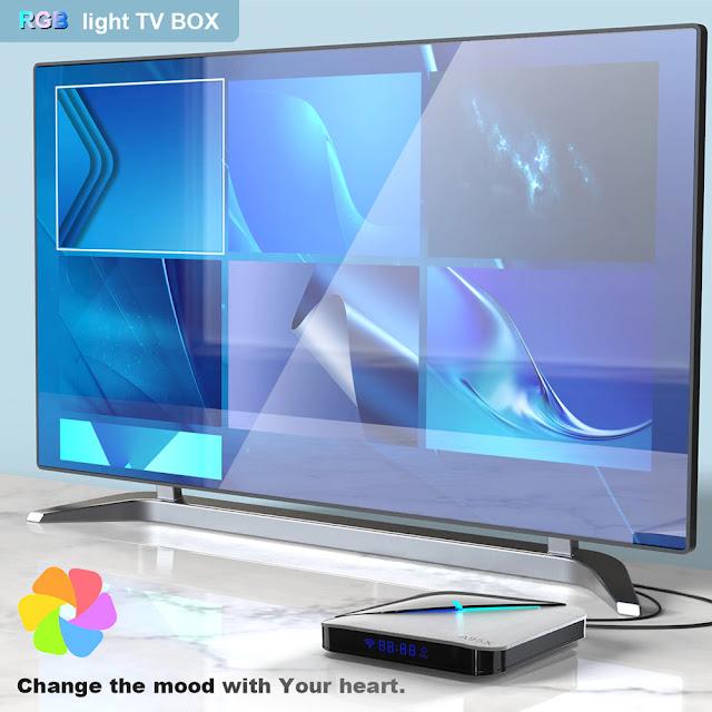 Transpeed A95X F3 Air 8K Android 9.0 TV BOX Amlogic S905X3 4K Google Voice Assistant wifi 4GB 16GB 32GB 64GB RGBLight TV Box