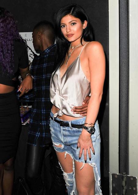 Kylie Jenner destroyed jeans