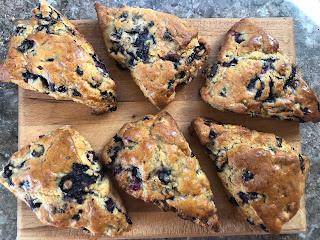 Blueberry-Honey-Scones