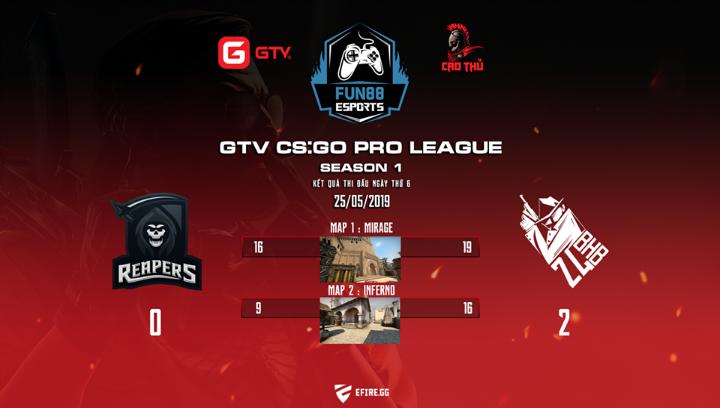 [CS:GO] GTV CS:GO Pro League Season 1: 24BHB lọt vào chung kết nhánh thua và bảng tổng kết tuần thi đấu thứ nhất