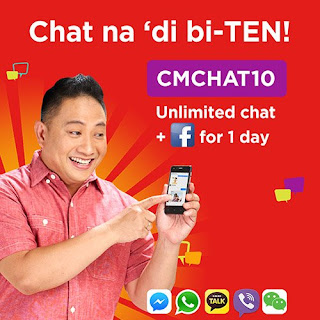 CMCHAT10 : Unlimited Chat + Facebook for 1 Day for only 10 Pesos