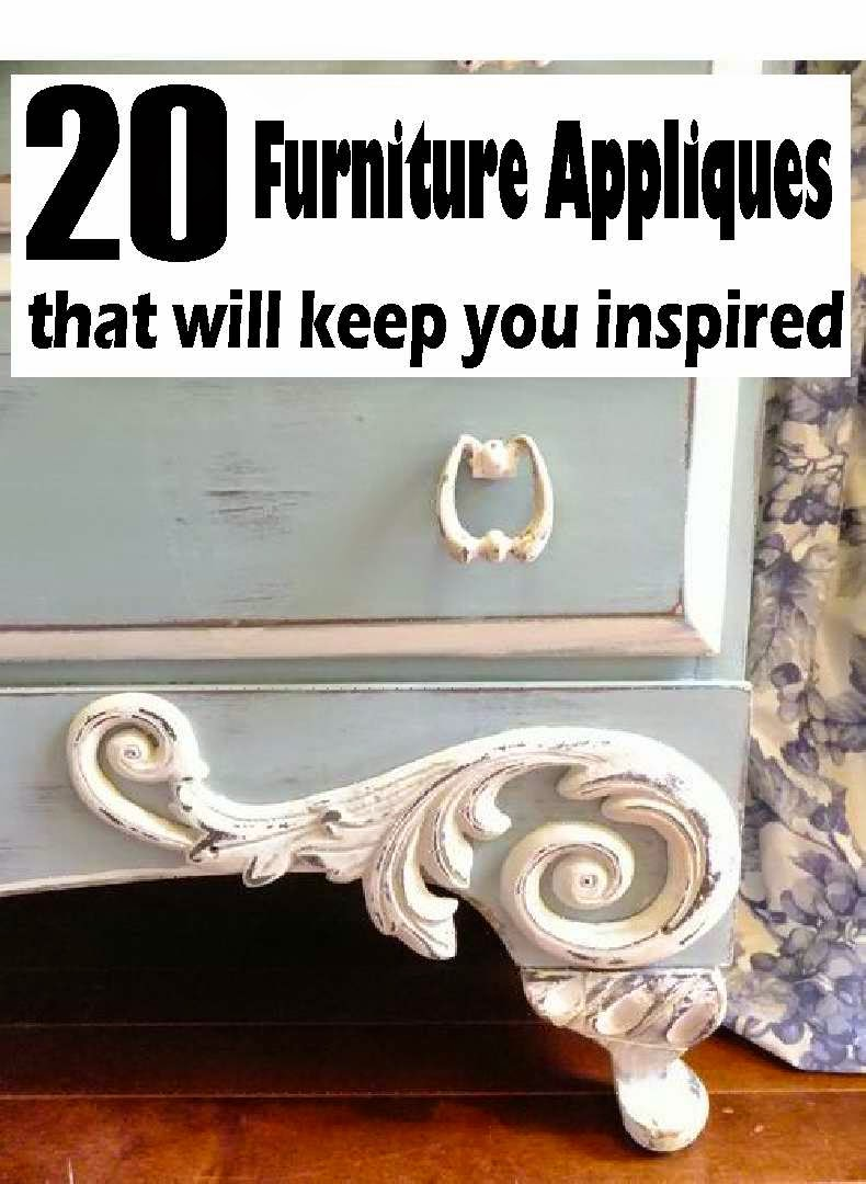 20 FURNITURE APPLIQUES That Will Keep You Inspired