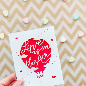 Love is in the Air Papercut Valentine's Day Card