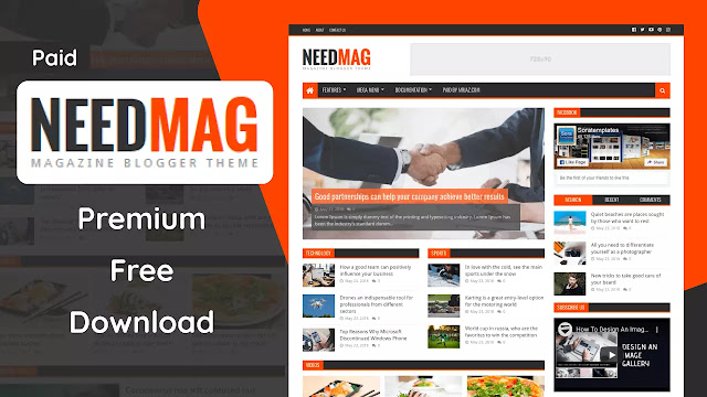 [Paid] NeedMag Premium Blogger Template Free Download   Need Mag v1.0.0 Blogger Template