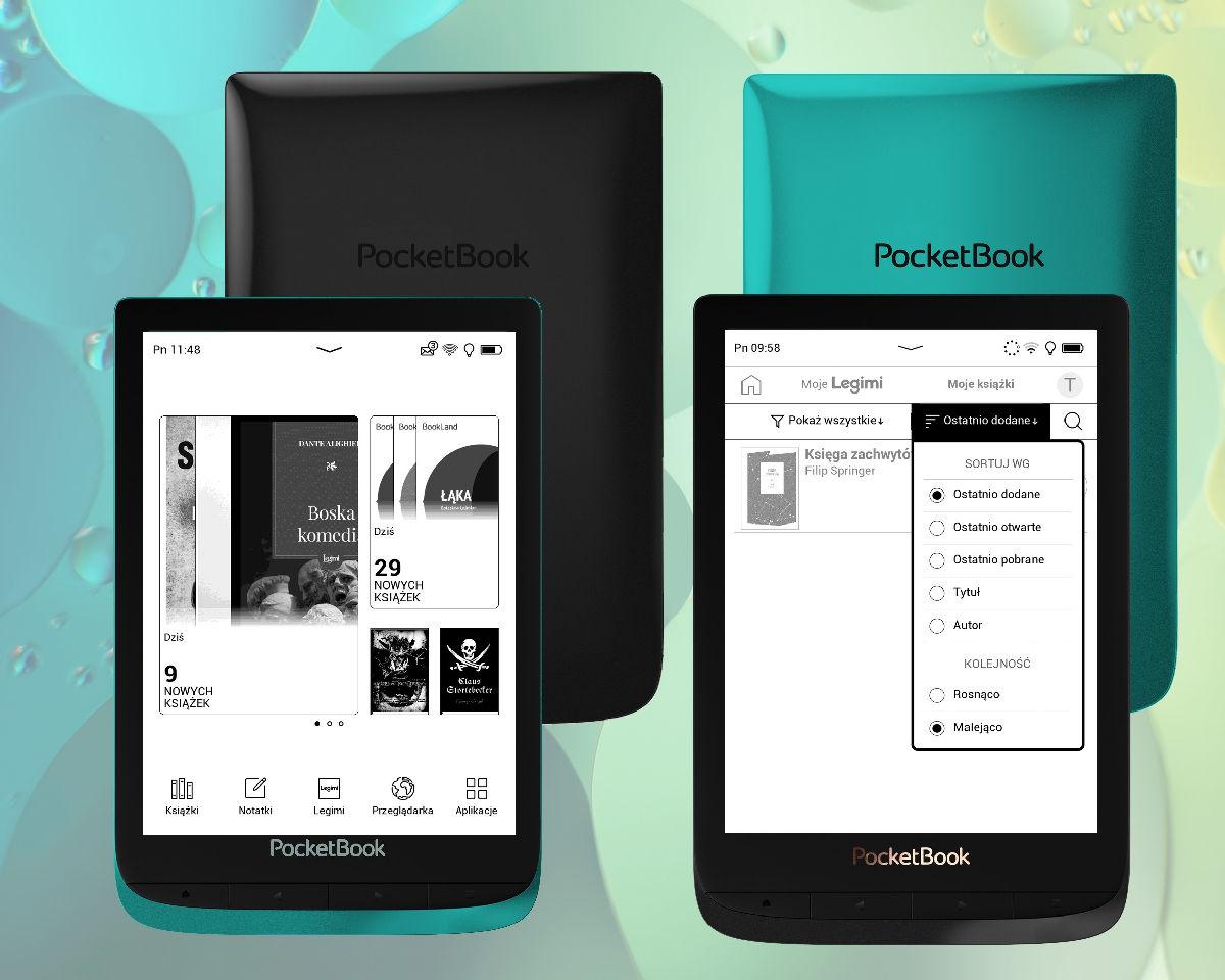 PocketBook Touch Lux 4 z aktualizacją 6.0 – nowy ekran startowy i funkcje zarządzania e-bookami w aplikacji Legimi