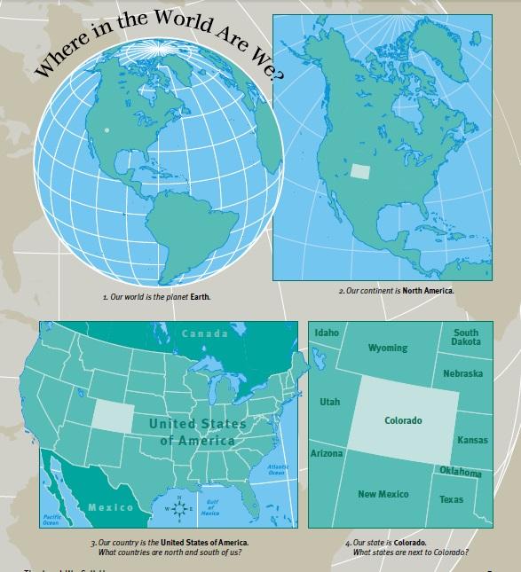 Map Of North America For 4th Grade.4th Grade Social Studies