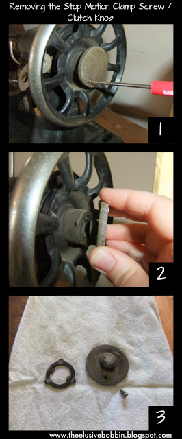 Removing the Stop Motion Clamp Screw/Clutch Knob