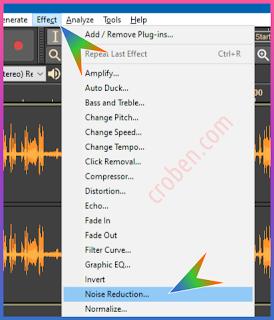 Croben.com Reduce Audio Noise Step 3