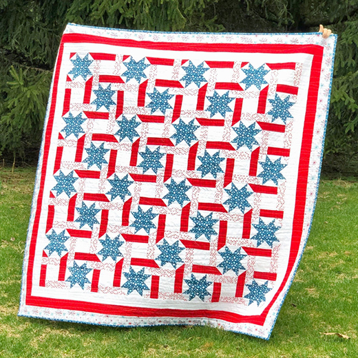 Fireworks & Freedom Glory Quilt designed by Jessica Dayon for Riley Blake Designs