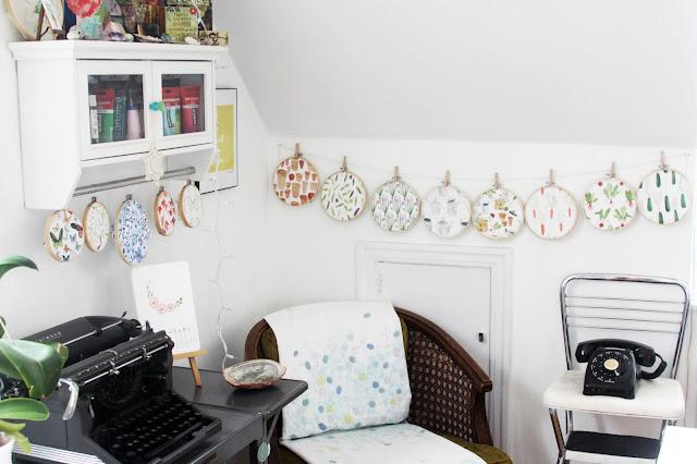 studio, artist studio, fabric design, fabric display, Anne Butera, My Giant Strawberry