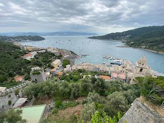 View from Castello Doria to the bay between Porto Venere and Palmaria