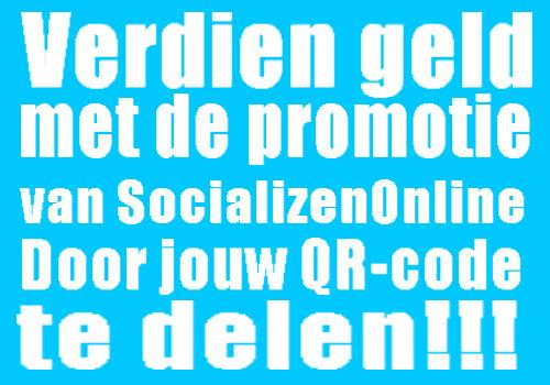 Verdien geld met het partnerprogramma van SocailizenOnline, deel jouw QR-code en verdien ongemerkt geld!