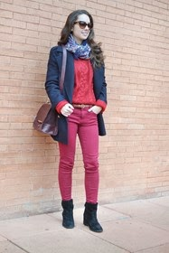 Jersey de punto rojo