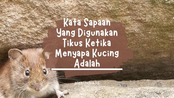 kata sapaan yang digunakan tikus untuk kucing adalah