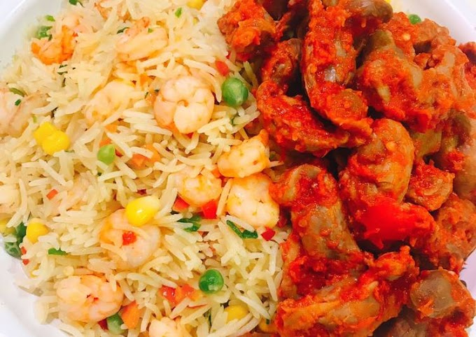 Binnaparlour fried rice and Gizzard taste so Great