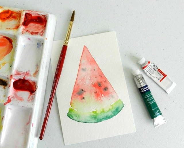 Watermelon Slice Painting: growcreative blog