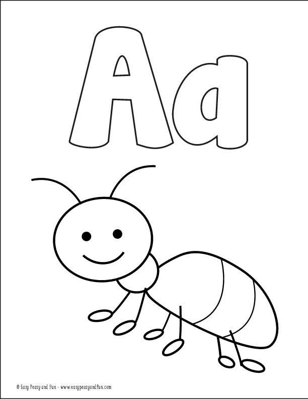 كل ما يخص الحروف الانجليزية من تعليم وتلوين وكتابة و فيديو ,Alphabet worksheets for coloring & tracing