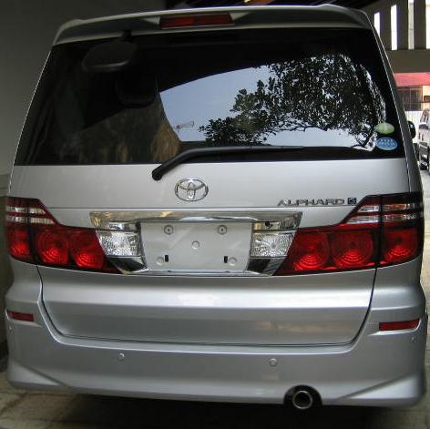 Nisura Tampang belakang Nissan Evalia