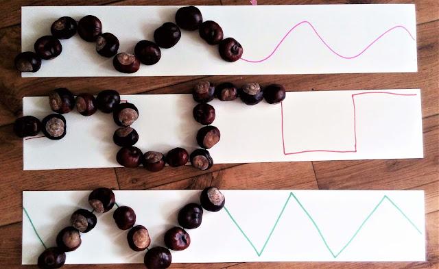 układanie wzorów z kasztanów pomysly na zabawy
