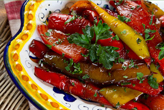 Shallow Fried Roasted Peppers (Kozlenmis Biber Kizartmasi)
