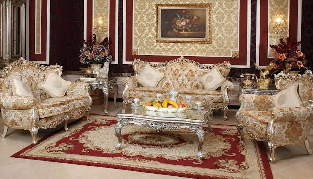 Thảm trải sàn cho phòng khách cổ điển