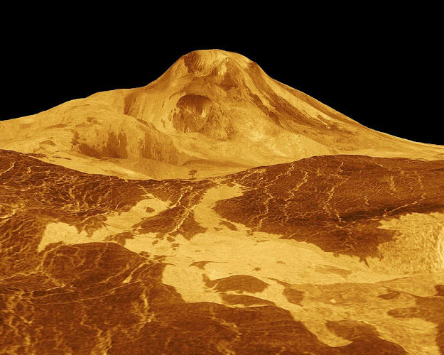Venus Planets largest volcano Maat Mons