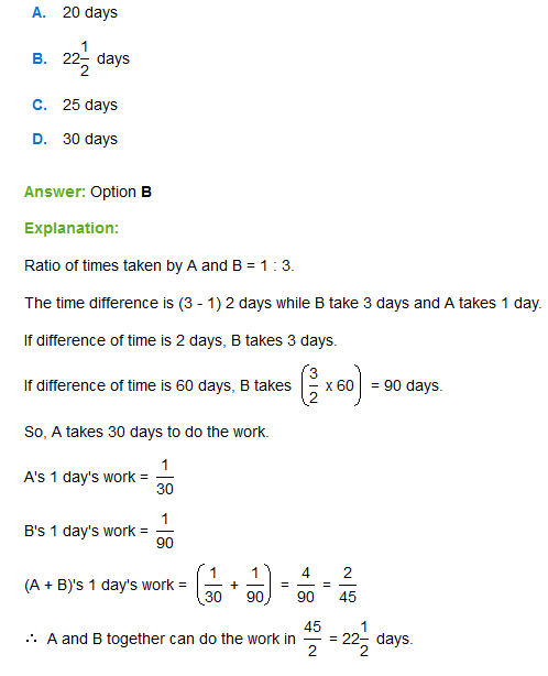 time and work questions pdf with answer
