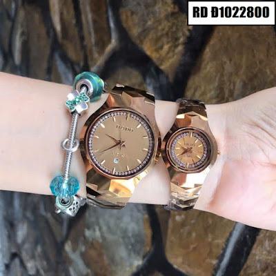 Đồng hồ cặp đôi Rado mặt tròn RD Đ1022800