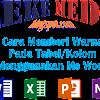 Belajar Cara Memberi Warna Tabel Menggunakan Ms Word