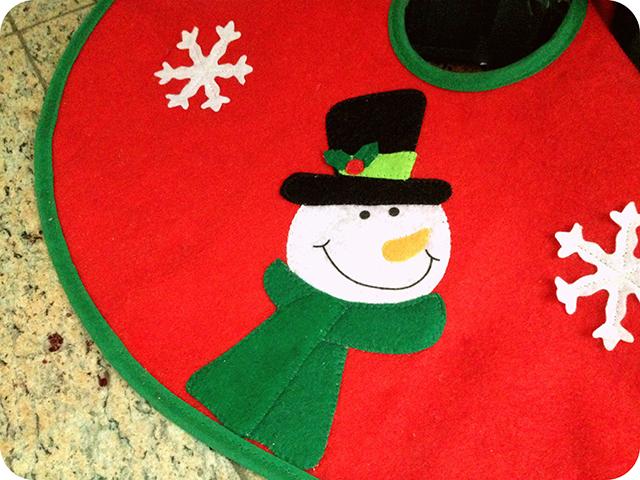 Decoração da Árvore de Natal : Saia de Boneco de Neve de Feltro