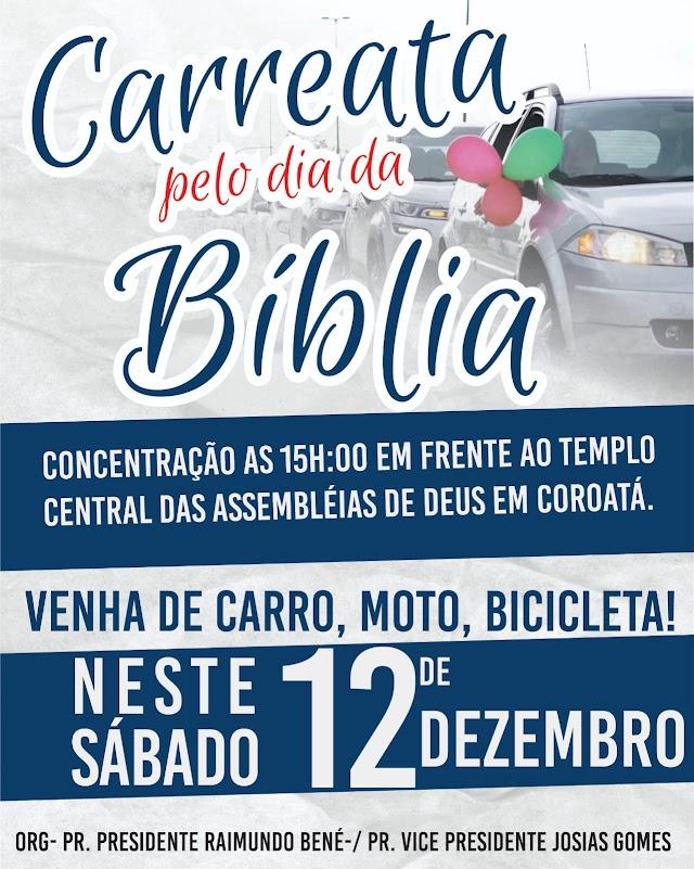 Assembleia de Deus realiza Carreata e Motocada no dia da Bíblia