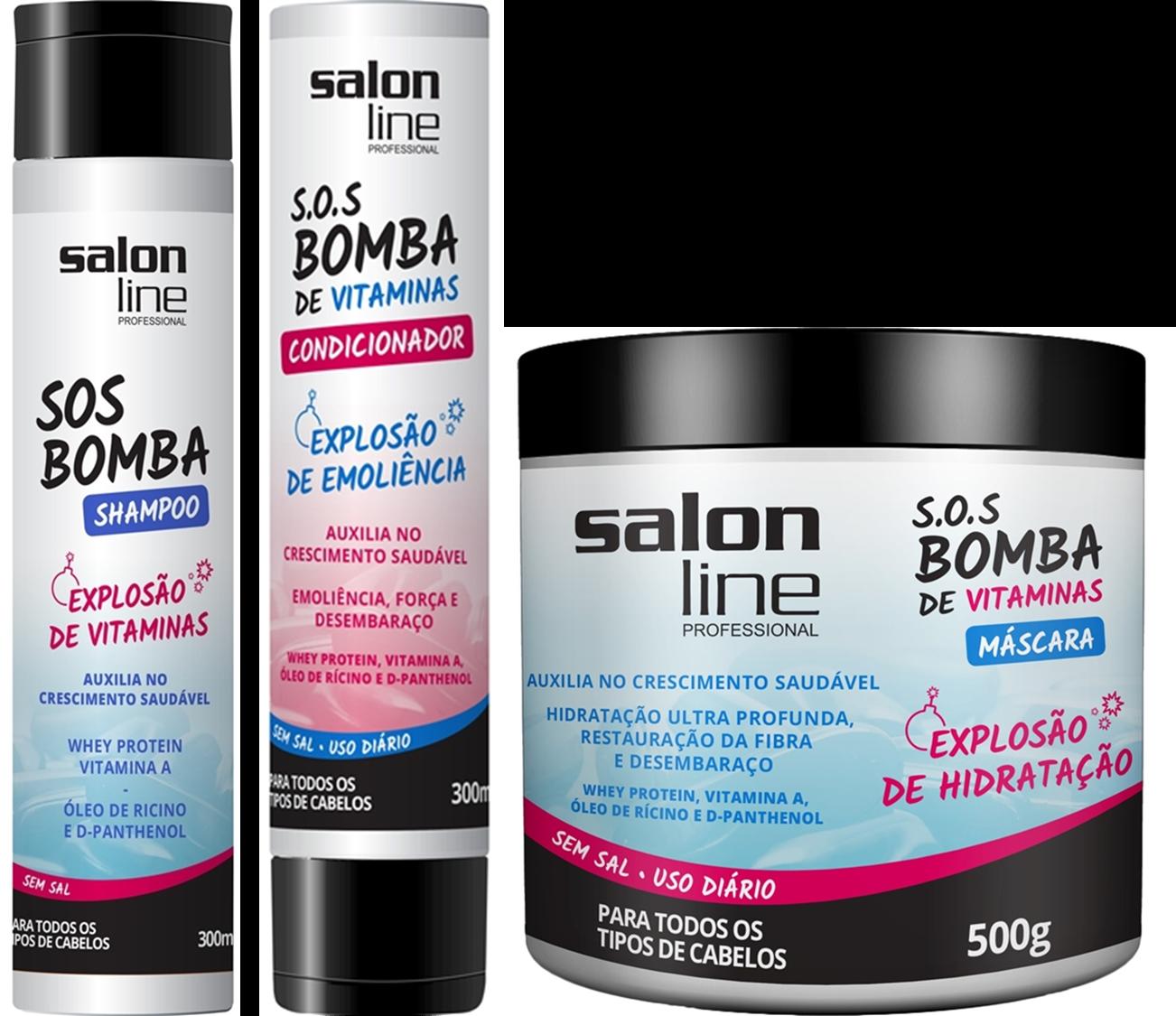 Bela recatada e diva shampoo sos bomba salon line for Salon line bomba