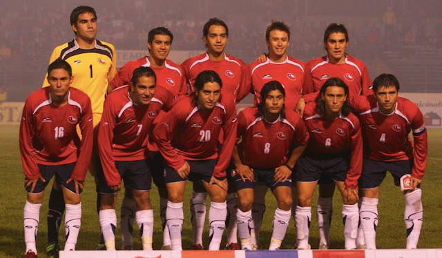 Formación de Chile ante Cuba, amistoso disputado el 16 de mayo de 2007