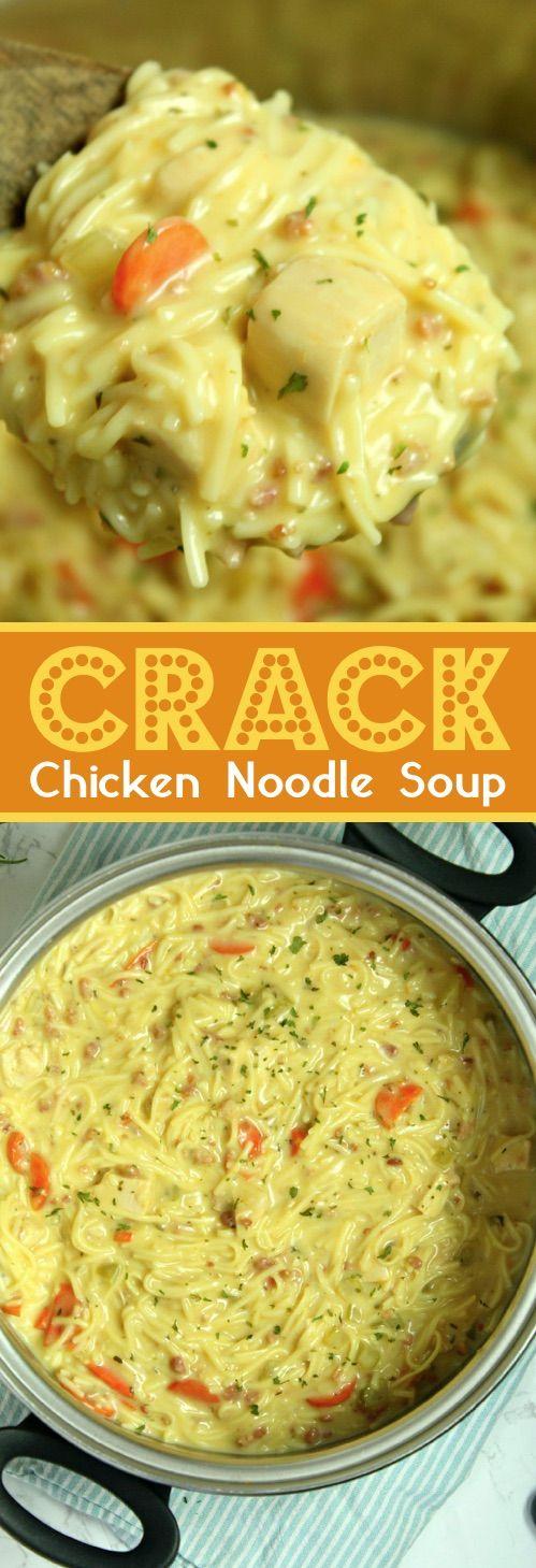 Crack Chicken Noodle Soup