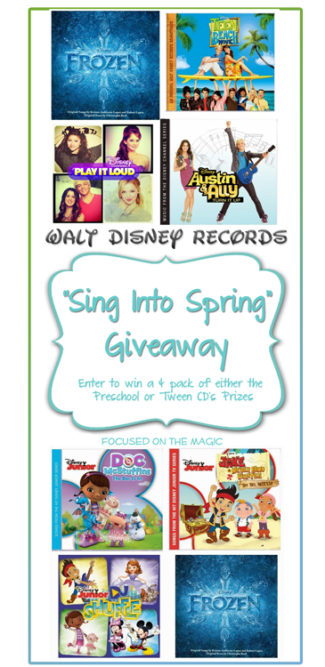 Sing Into Spring Giveaway from Walt Disney Records | Focused on the Magic